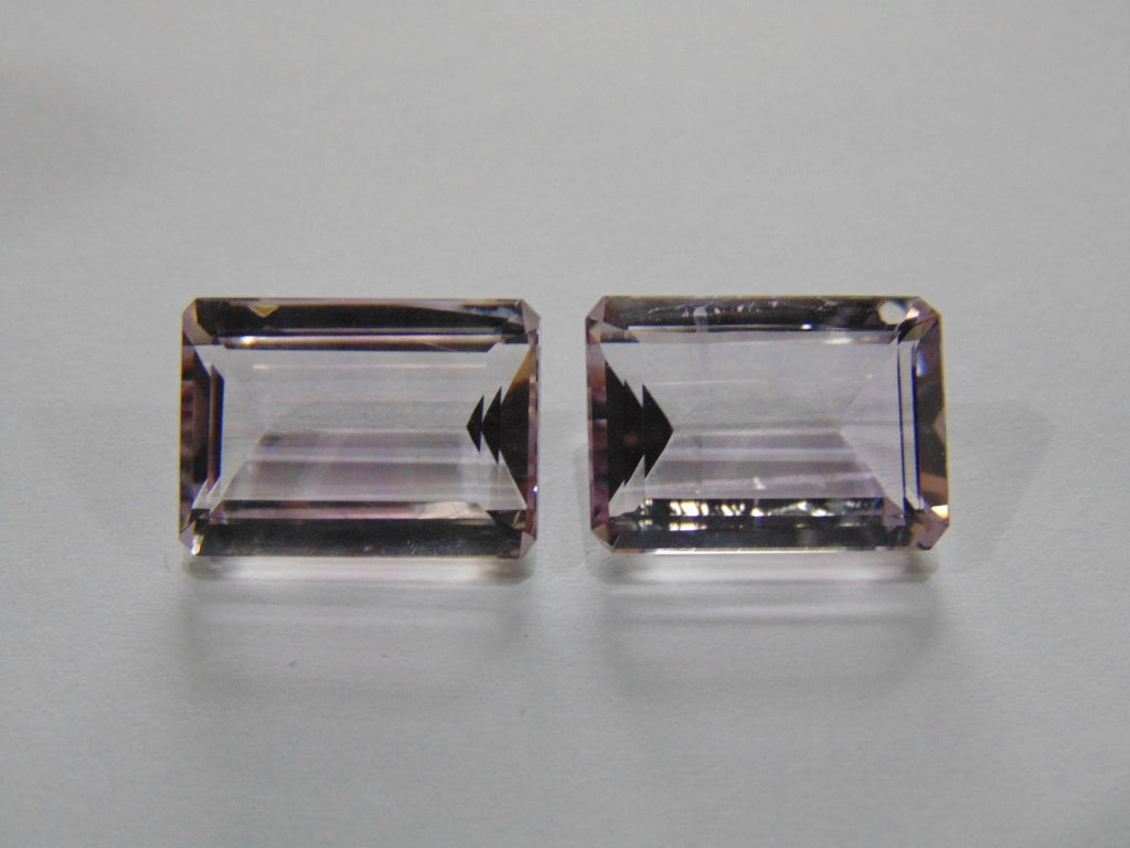 25.50ct Amethyst (Rose France) Pair