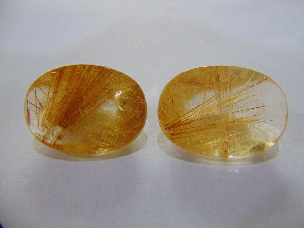 91.50ct Rutile (Golden) Pair