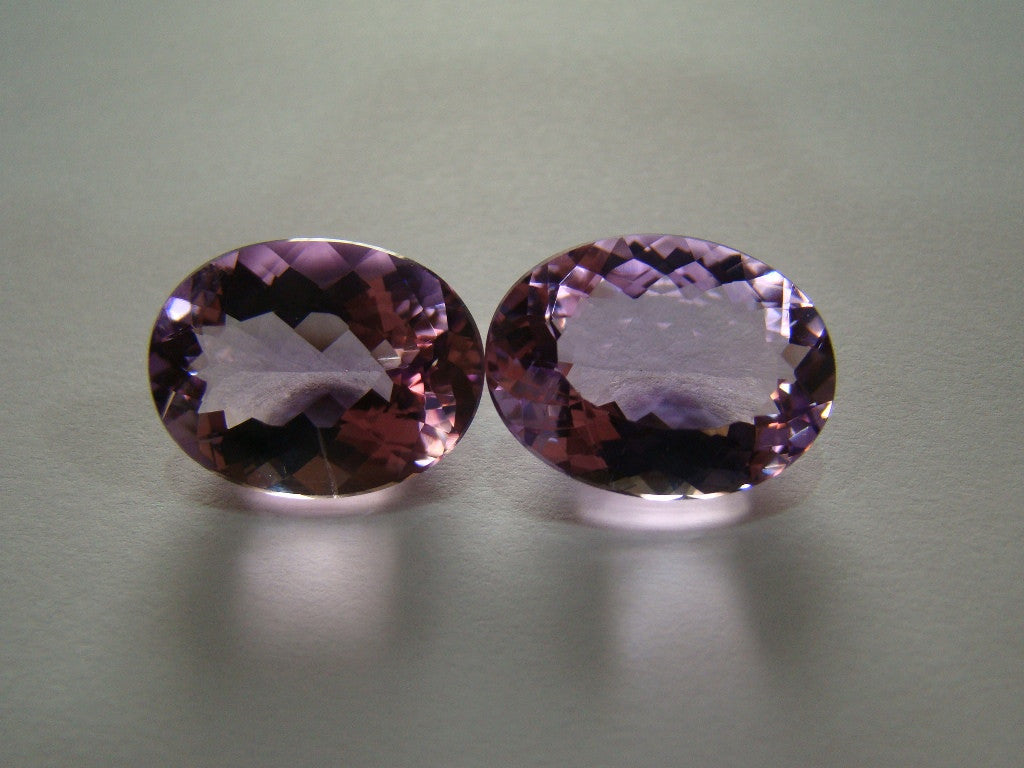 30ct Amethyst (Rose de France) Pair
