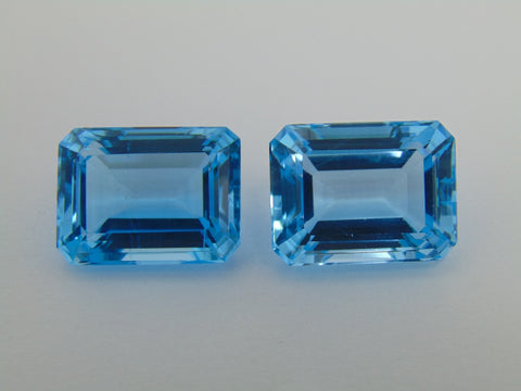 63.60cts Topaz (Blue Swiss) Pair