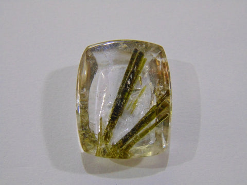 29.50ct Quartz (Epidote)