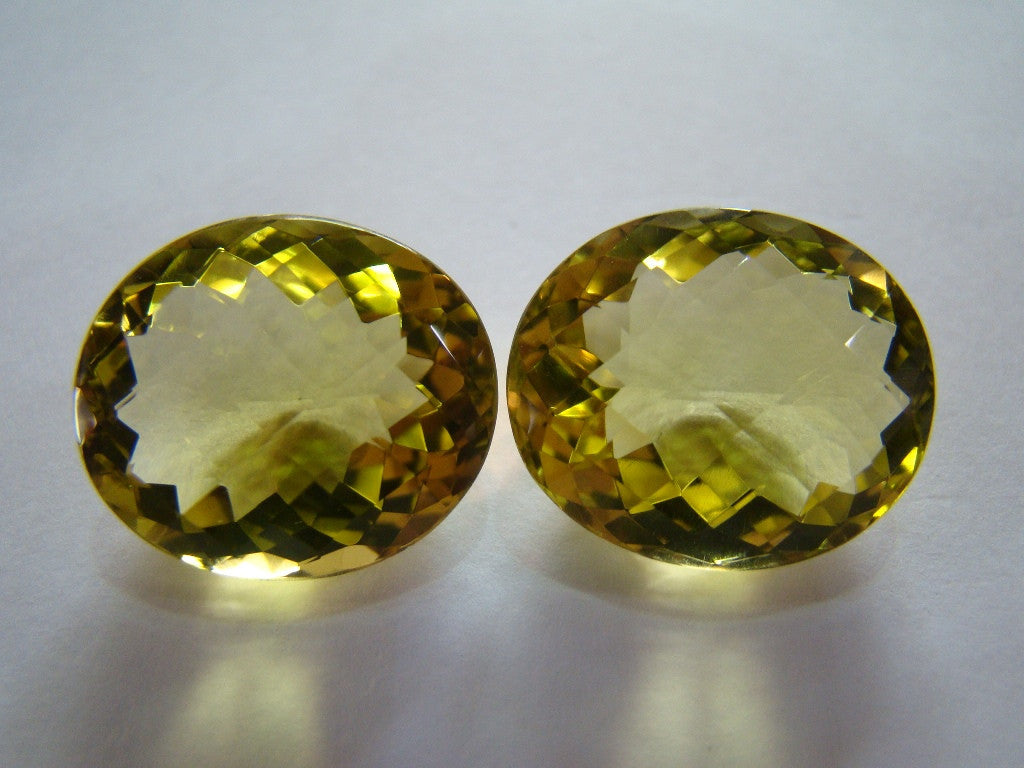 49ct Quartz (Green Gold) Pair