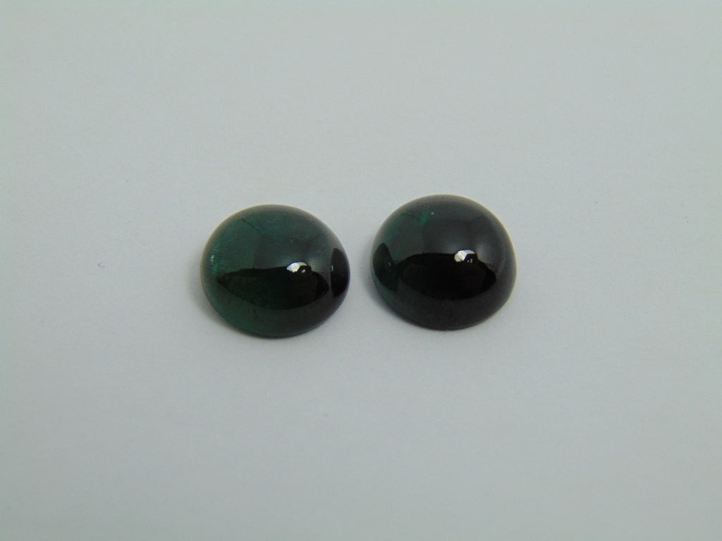 11.80cts Tourmaline (Cabochon) Pair