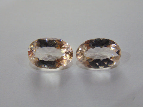12.10ct Morganite (Pair)