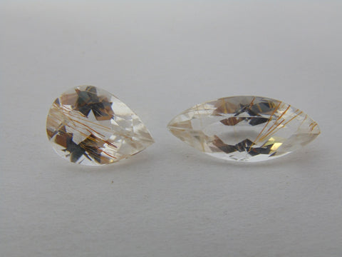 14.60cts Topaz With Golden Rutile