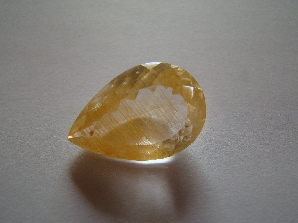 31ct Topaz With Golden Rutile