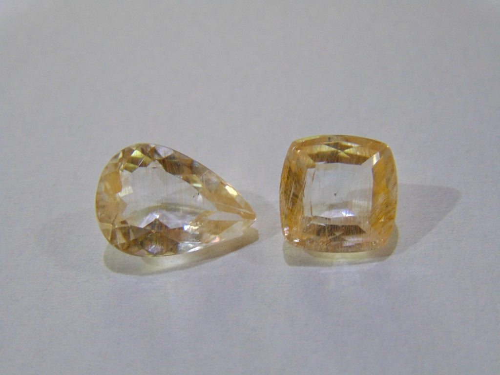 11.50ct Topaz With Golden Rutile