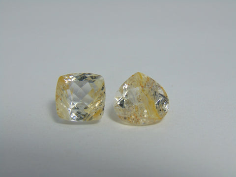 12.80cts Topaz With Golden Rutile