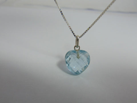 Silver Necklace With Topaz Sky