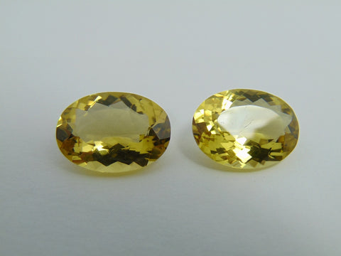 25.70cts Quartz (Green Gold) Pair