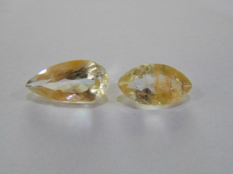 14.20ct Topaz With Golden Rutile