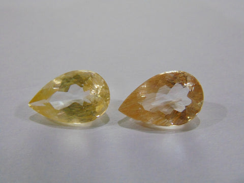 13.70ct Topaz With Rutile (Pair)