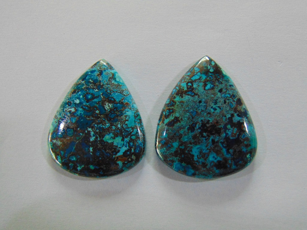 107ct Chrysocolla (Pair)