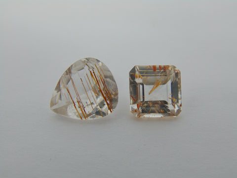 12.60cts Topaz With Golden Rutile