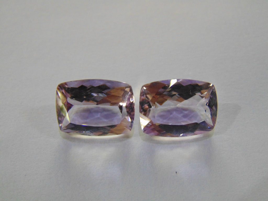 23.50ct Amethyst  Rose France (Pair)