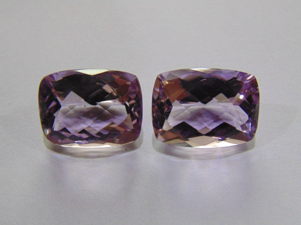 29.50ct Amethyst (Rose France) Pair
