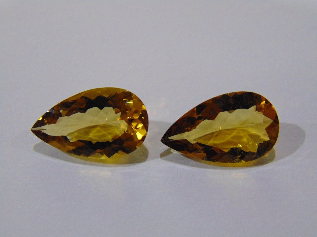 17ct Citrine (Pair)