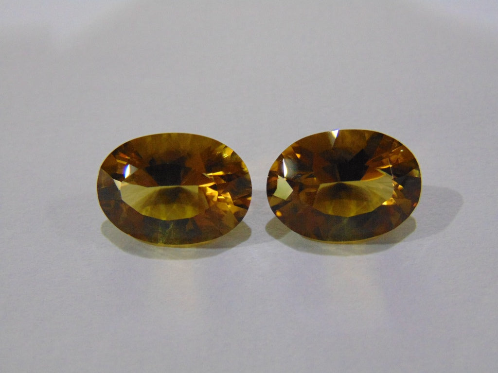 21.50ct Citrine (Pair)