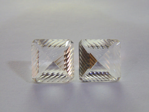 29.30ct Quartz (White) Pair