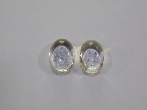 12.10ct Quartz (Inclusion) Pair