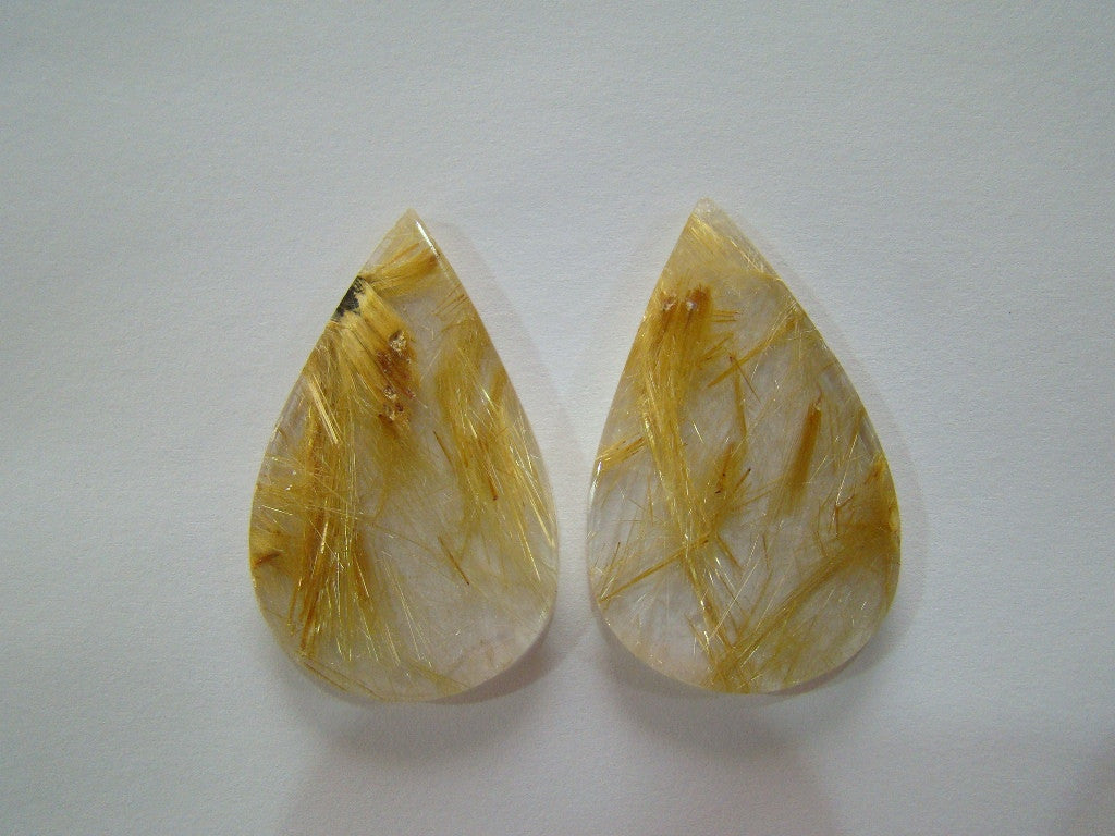 79.50ct Rutile (Golden) Pair