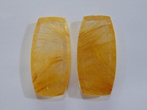 137ct Rutile (Golden) Pair