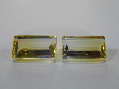 30.50ct Quartz (Bicolor) Pair