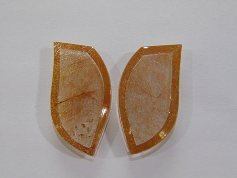 107.70ct Rutile (Golden) Pair