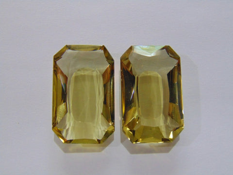 101ct Quartz (Green Gold) Pair