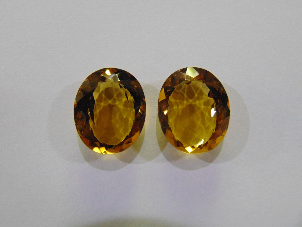 46.50ct Citrine (Pair)