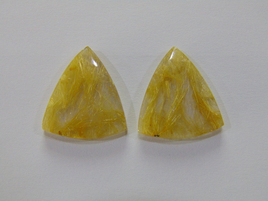 44.20ct Rutile (Golden) Pair