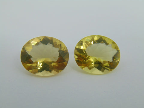 20.30cts Quartz (Green Gold) Pair