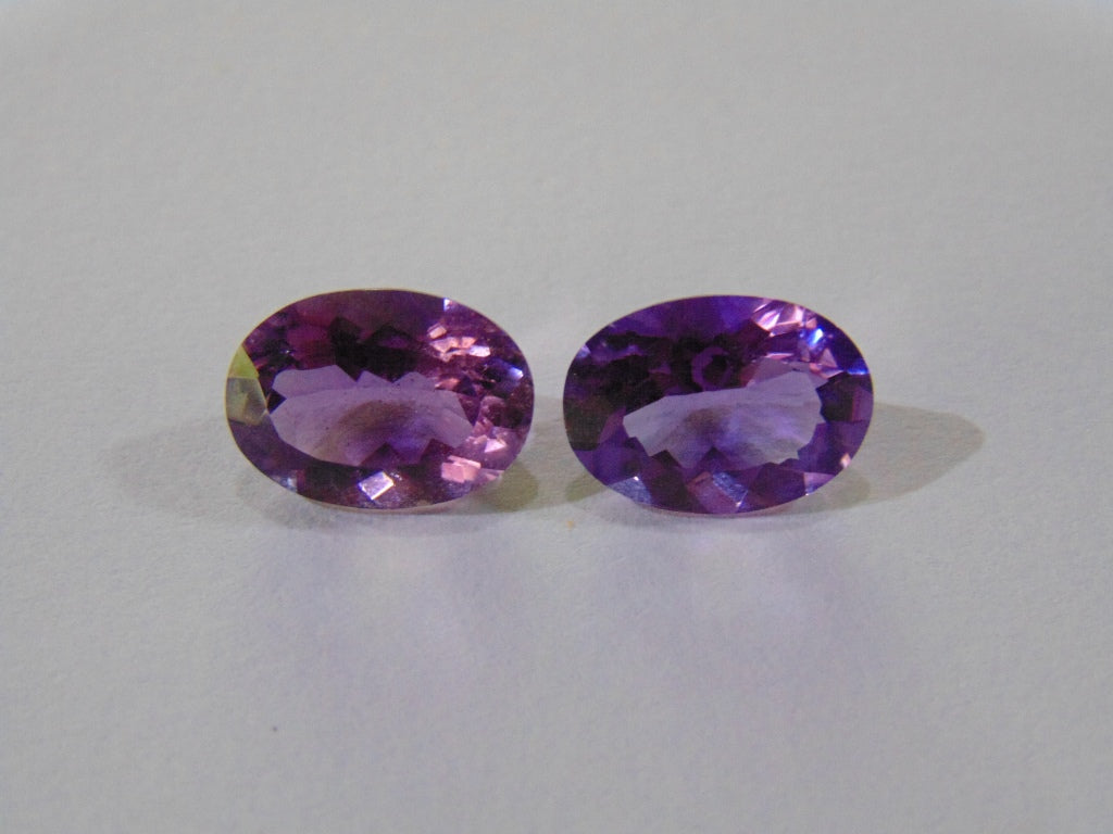 9.40ct Amethyst (Pair)