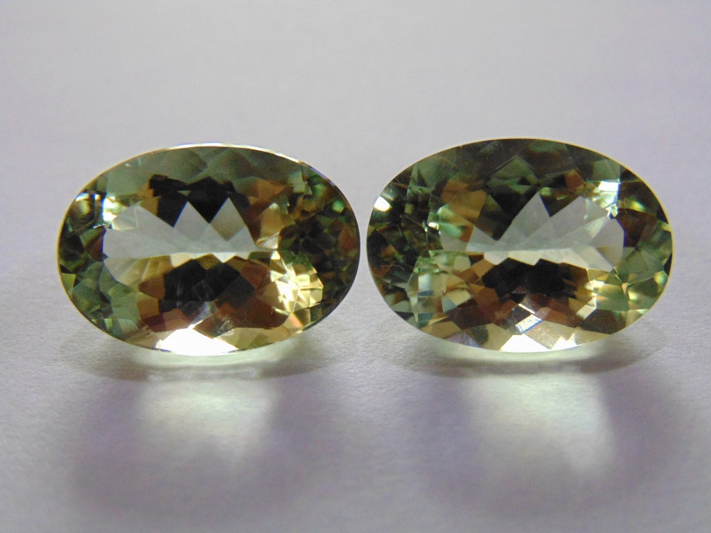 26.50ct Prasiolite Pair