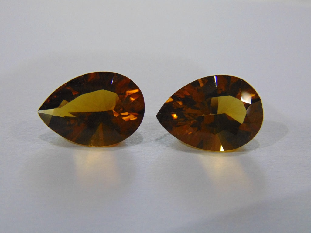 17.10ct Citrine (Pair)