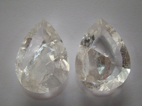 162ct Quartz (Negative) Pair