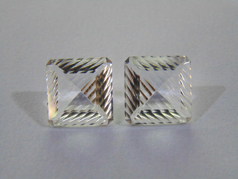 17.20ct Quartz (Crystal) Pair