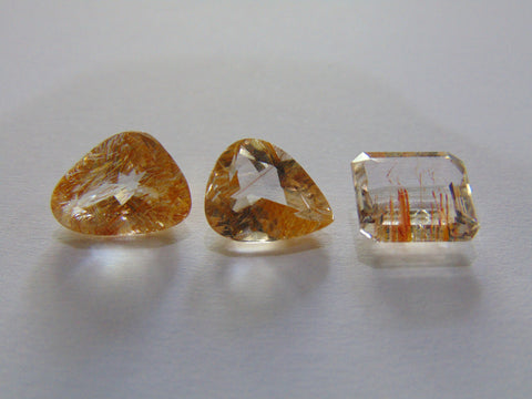 15.50ct Topaz With Golden Rutile