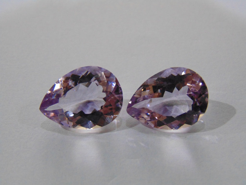 19.60ct Amethyst (Rose France) Pair
