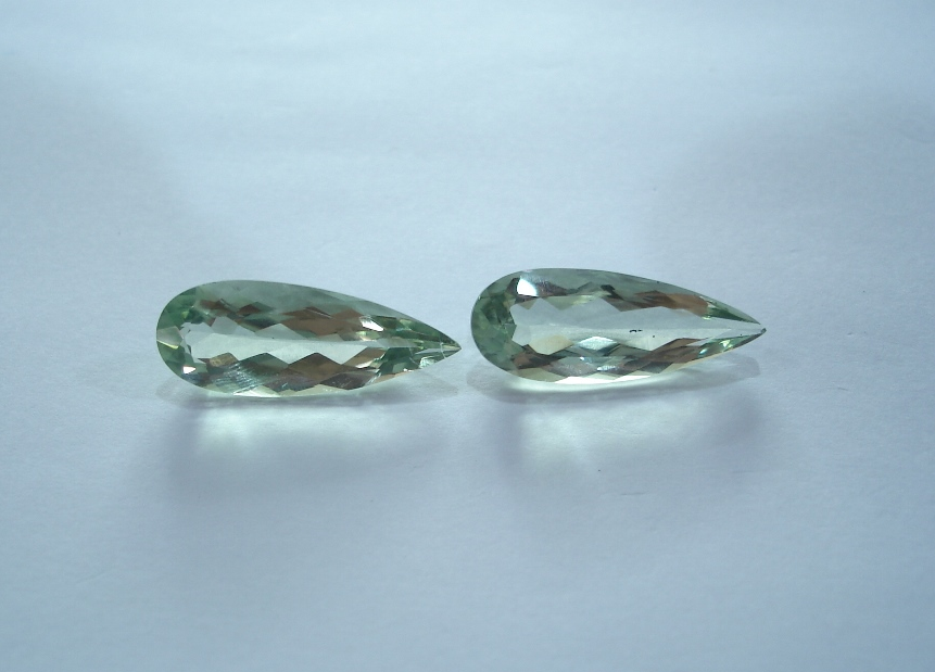 19.50ct Prasiolite (Pair)