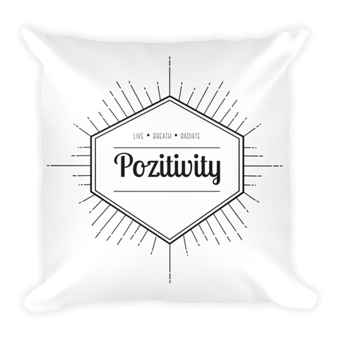 Live, breathe, radiate pozitivity pillow