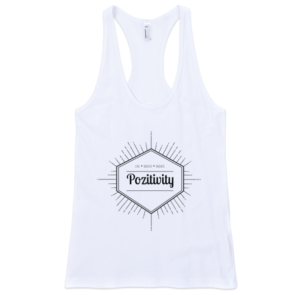 Live, breathe, radiate women's tank top