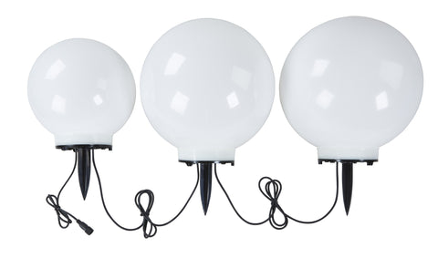 GardenGlo Solar Powered White LED Orbs - The Backyard Bartender