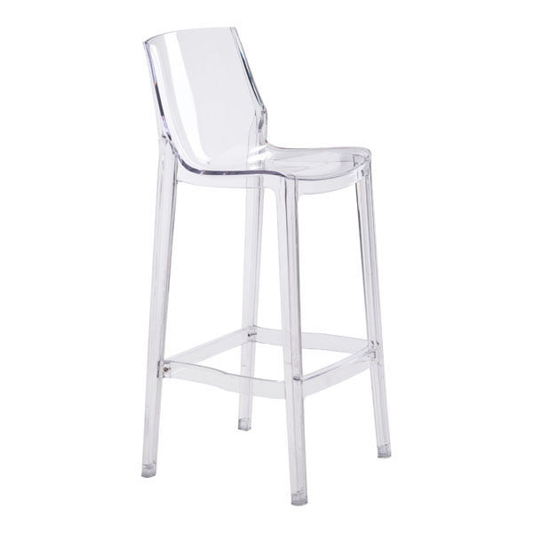 Phantom Bar Chair Clear - Set of 2 - The Backyard Bartender