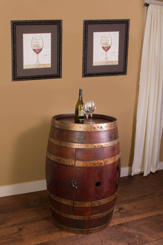 Napa East Whole Refinished Wine Barrel Cabinet 1017 - The Backyard Bartender
