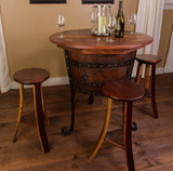 Napa East Old World Table with Cabinet Set - The Backyard Bartender