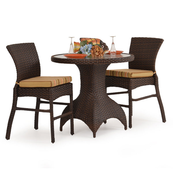 Garden Classics® Series 6000 Bar Table 3-Piece Set - Tortoise Shell - The Backyard Bartender
