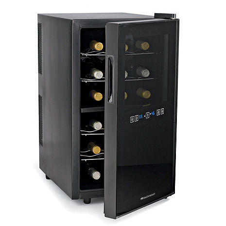 Wine Enthusiast Silent 18-Bottle Dual-Zone Touchscreen Wine Cooler - The Backyard Bartender