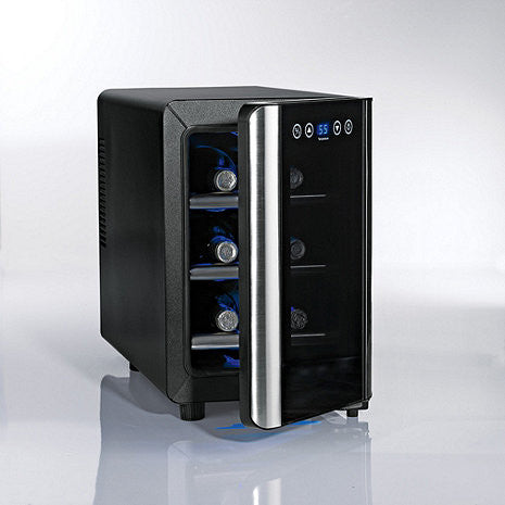Wine Enthusiast Silent 6-Bottle Touchscreen Wine Cooler - The Backyard Bartender