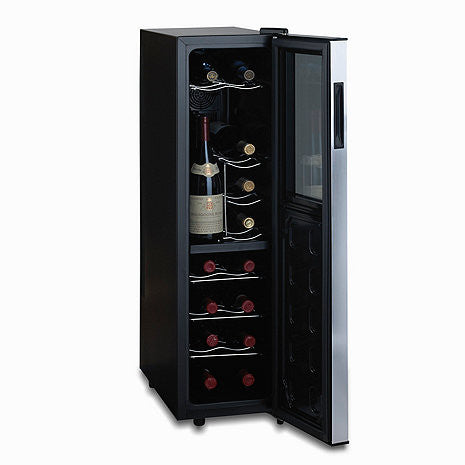 Wine Enthusiast Silent 18-Bottle Dual-Zone Touchscreen Wine Cooler Slimline with Upright Bottle Storage - The Backyard Bartender